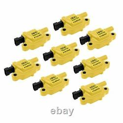140043-8 Accel Ignition Coils SuperCoil GM LS2/LS3/LS7 engines yellow 8-pack