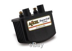 140408BK Super Coil Motorcycle Ignition Coil Single Fire 3 Ohms Resistance Black