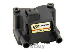 140410 Super Coil Motorcycle Ignition Coil. 5 Ohms Resistance Twin Cam Black