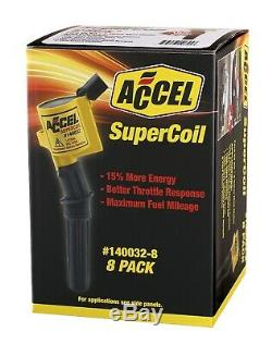 ACCEL 140032-8 SuperCoil Direct Ignition Coil Set Turn Ratio 611 8 Pack