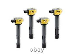 ACCEL 140311-4 Yellow Supercoil For 02-06 Honda Inline 4 2.0L 2.2L 2.4L 4 Pack