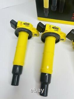 ACCEL 140333-4 Ignition Coil, SuperCoil, Fits Toyota, 2.4L-I4, 4-Pack DAMAGED