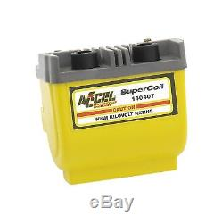 ACCEL 140407 Super Coil Motorcycle Ignition Coil Dual Fire 2.3 Ohms Resistance