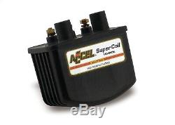 ACCEL 140408BK Super Coil Motorcycle Ignition Coil Single Fire 3.0 Ohms Res