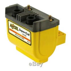 ACCEL HEI Super Ignition Coil 4,7 OHM Yellow, F. Harley Davidson, Shovel, EVO