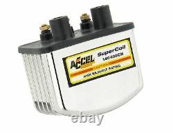 ACCEL Motorcycle 140408CH Ignition Coil Super Coil 3.0 Ohms Res Chrome