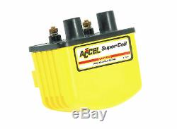 ACCEL Motorcycle 140408 Ignition Coil Super Coil 3.0 Ohms Res Yellow