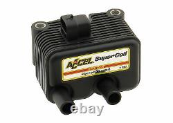 ACCEL Motorcycle 140409 Super Coil Twin Cam Black