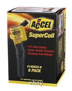 Accel 140032-8 SuperCoil Performance Ignition Coil Ford 2V Mod Set of 8