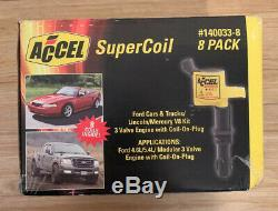 Accel 140033-8 Super-Coil Ford 4.6L 5.4L Modular 3 Valve With Coil-on-Plug