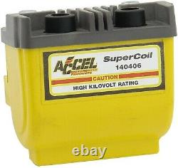 Accel 140406 Yellow Performance Dual Fire Super Coil for 65-79 Harley