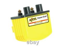 Accel 140408 Single Fire Super Coil, Yellow Harley Davidson 3.0 Ohms Resista