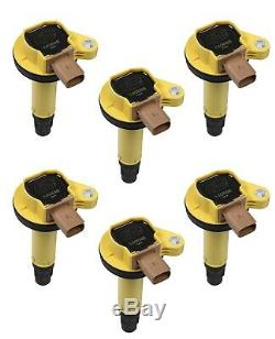 Accel 140646-6 Super Coil OEM Replacement 3 Pin Yellow 6 Pack