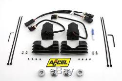 Accel Black Stealth Super Coil Set, for Harley Davidson motorcycles, by V-Twin