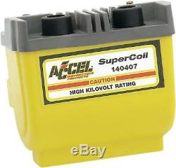 Accel Dual Fire Super Coil Yellow #140407 Harley Davidson