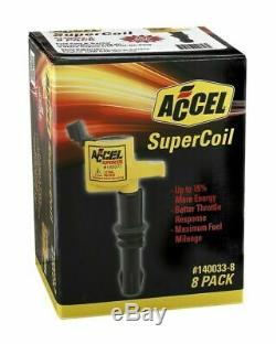 Accel IGNITION COIL SUPERCOIL FORD 3 VALVE MODULAR ENGINE 4.6 5.4 6.8L (8 PACK)