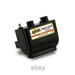 Accel Ignition Coil 140406BK Motorcycle Dual-Fire Super Coil for 62-79 Harley