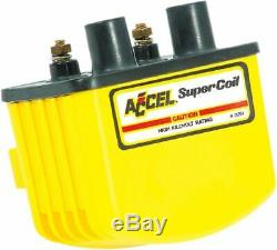 Accel Moto Motorcycle Motorbike Super Coil Single-Fire Yellow 3.0 OHMS