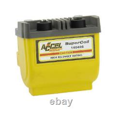 Accel Motorcycle Dual Fire Super Ignition Coil Yellow 4.7 Ohms 140406