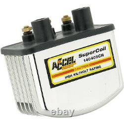 Accel Single-Fire Super Coil for Harley Davidson Chrome 140408CH