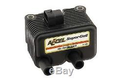 Accel Super Coil Black, for Harley Davidson motorcycles, by V-Twin