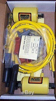 Accel Super Coil Kit Kawasaki Classic 4 cyl. 3-ohm Ignition COILS Wires Set