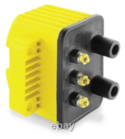Harley Evolution Accel Single Fire Super Ignition Coil Pack Yellow 16073