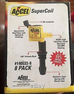 NEW! ACCEL SuperCoil 8-pack #140033-8 Ford 4.6 & 5.4 V8 Mustang Coil On Plug