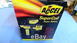 Set of 4 Accel 140078-4 Coil Super Coil Pack Style Socket Yellow Scion Toyota