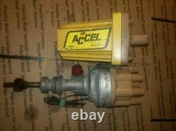 Vintage Accel Dual Point Distributor & Accel Super Coil Ford SB- 30201